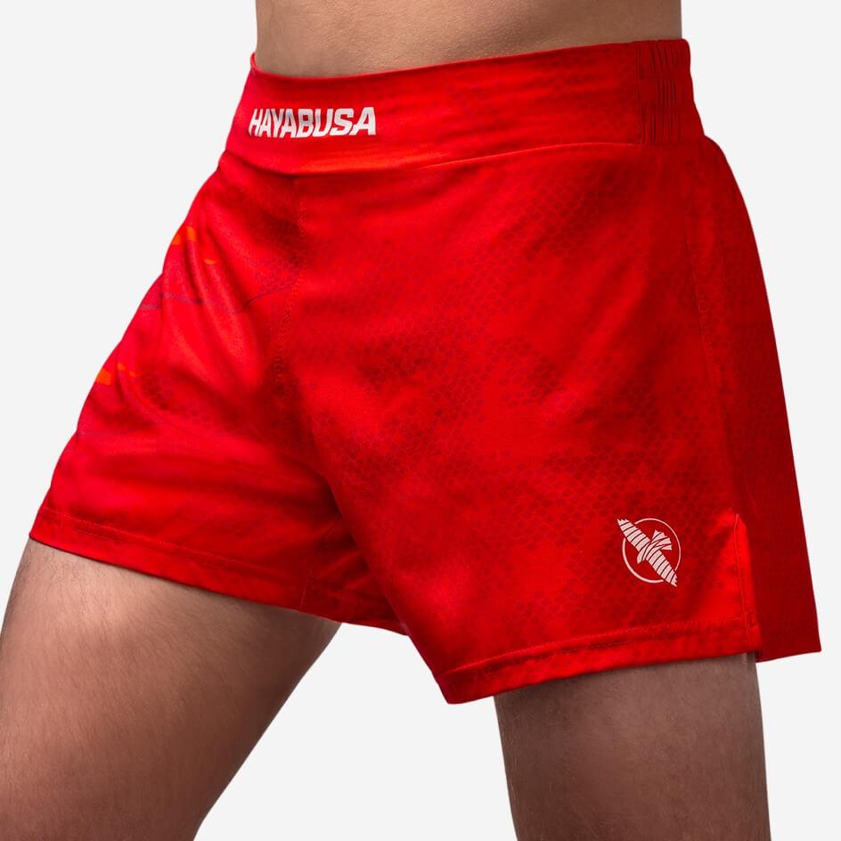 Hayabusa Arrow Kickboxing Shorts - Red