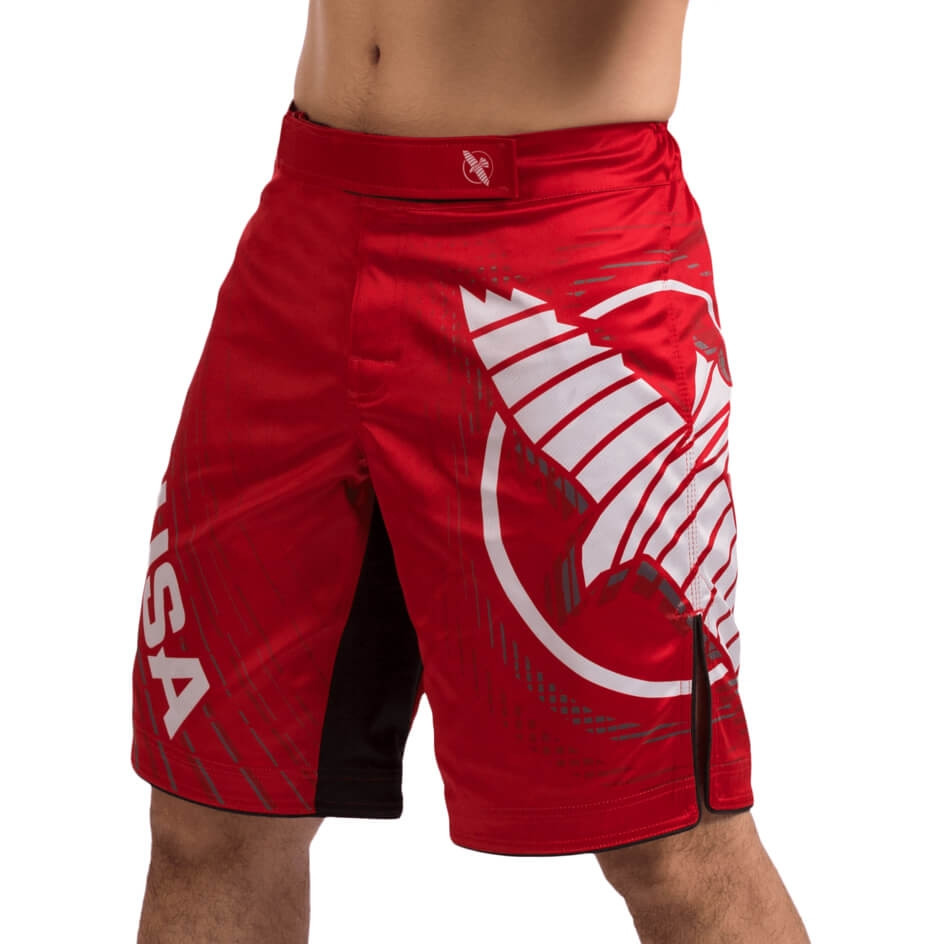 Hayabusa Chikara 4 Fight Shorts - Red