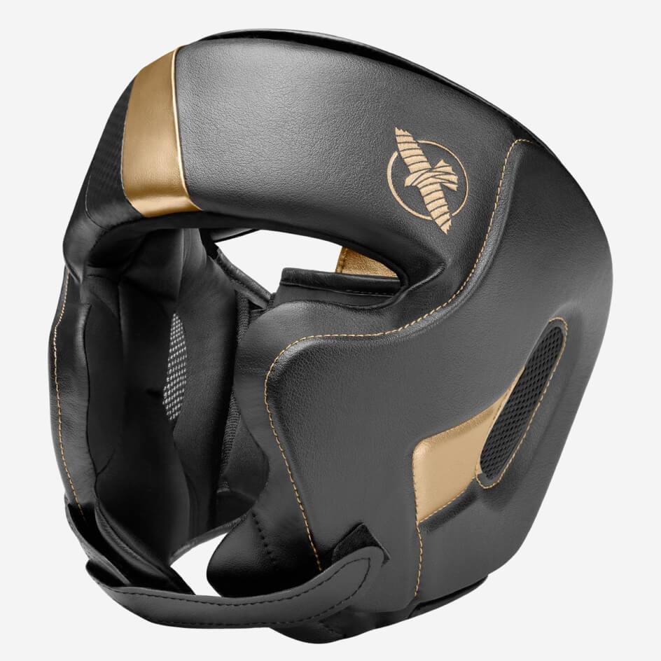 Hayabusa T3 Chinless Boxing Headguard - Black / Gold