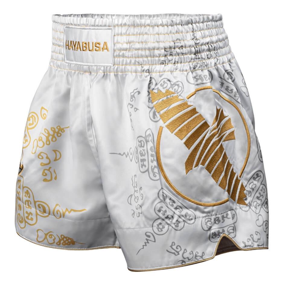 Hayabusa Falcon Muay Thai Shorts - White