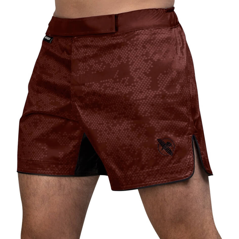 Hayabusa Hex Mid-Length Fight Shorts - Burgundy