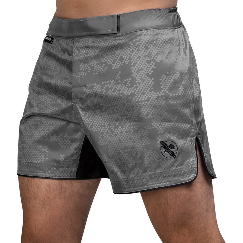 Hayabusa Hex Mid-Length Fight Shorts - Grey