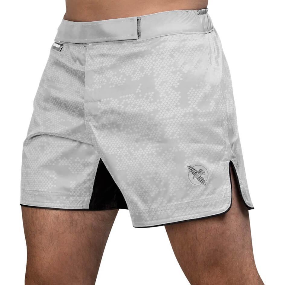 Hayabusa Hex Mid-Length Fight Shorts - White
