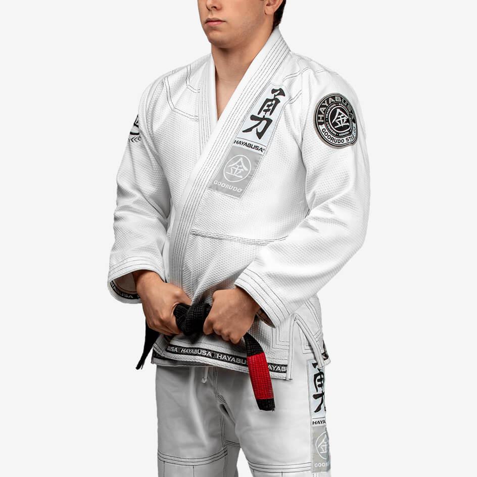 Hayabusa Goorudo 3 Gold Weave Jiu Jitsu Gi - White