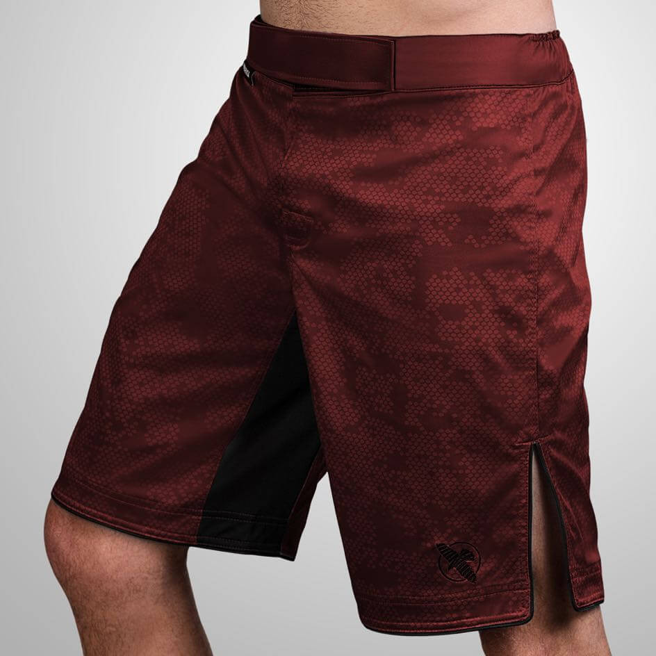 Hayabusa Hexagon Fight Shorts - Burgundy