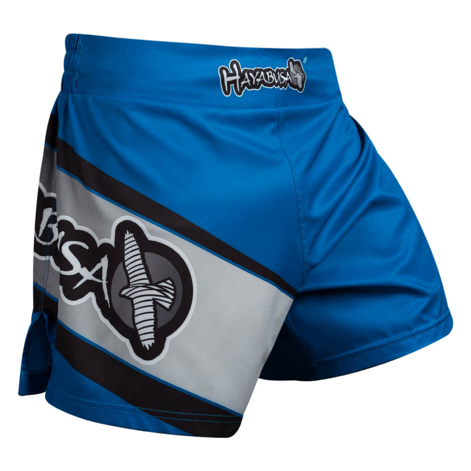 Hayabusa Kickboxing Shorts - Black / Blue