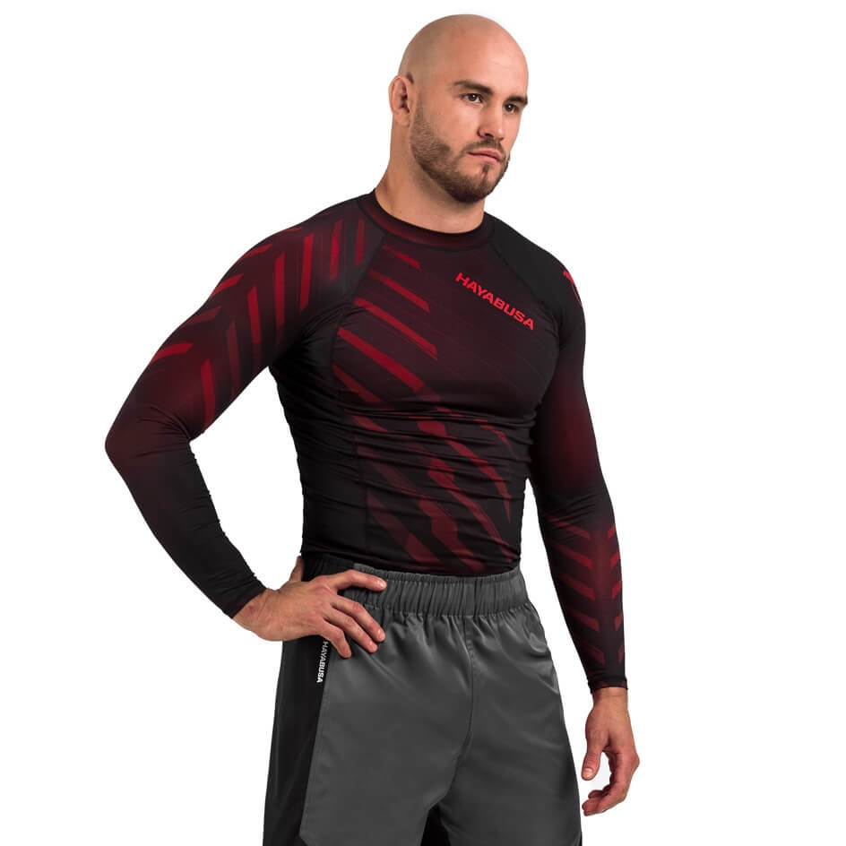 Hayabusa Odor Resist Rashguard Long Sleeve - Red