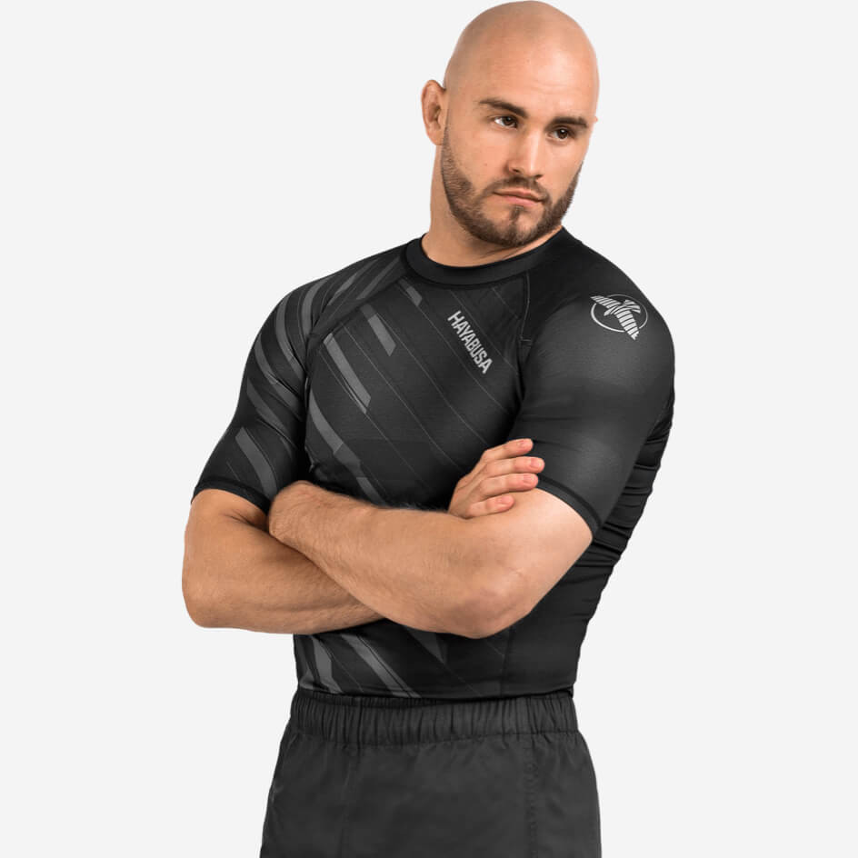 Hayabusa Odor Resist Rashguard Short Sleeve - Grey