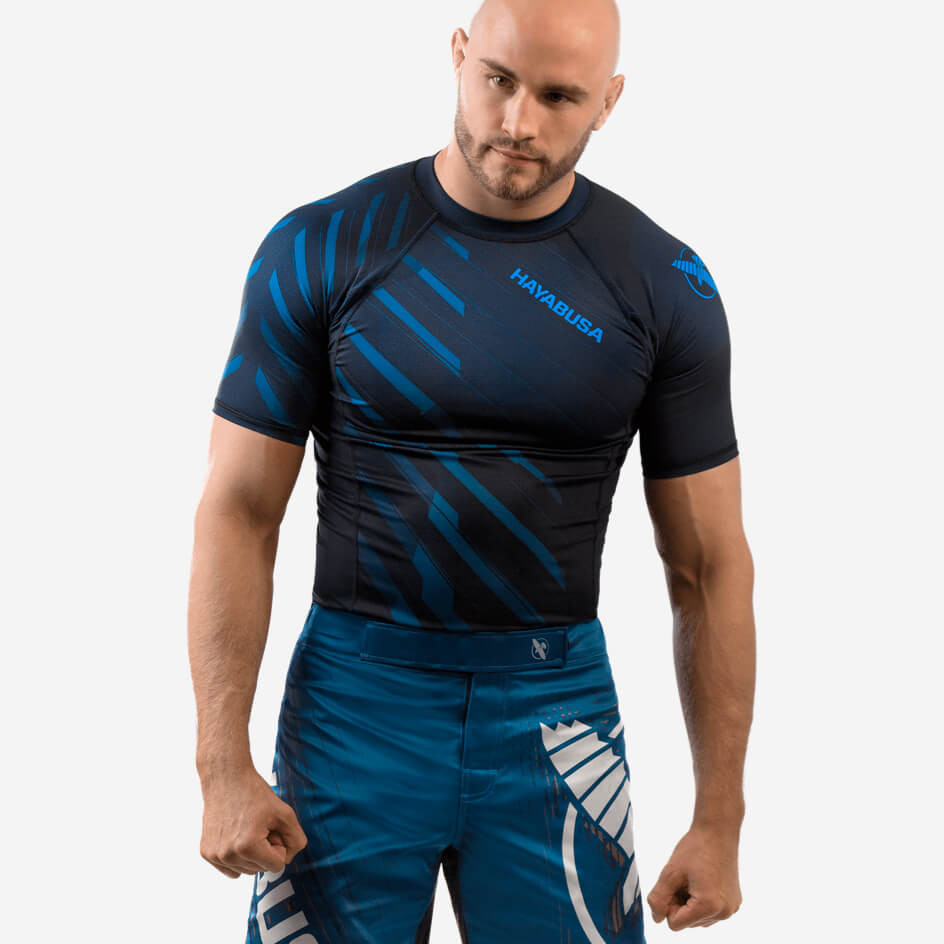 Hayabusa Odor Resist Rashguard Short Sleeve - Blue