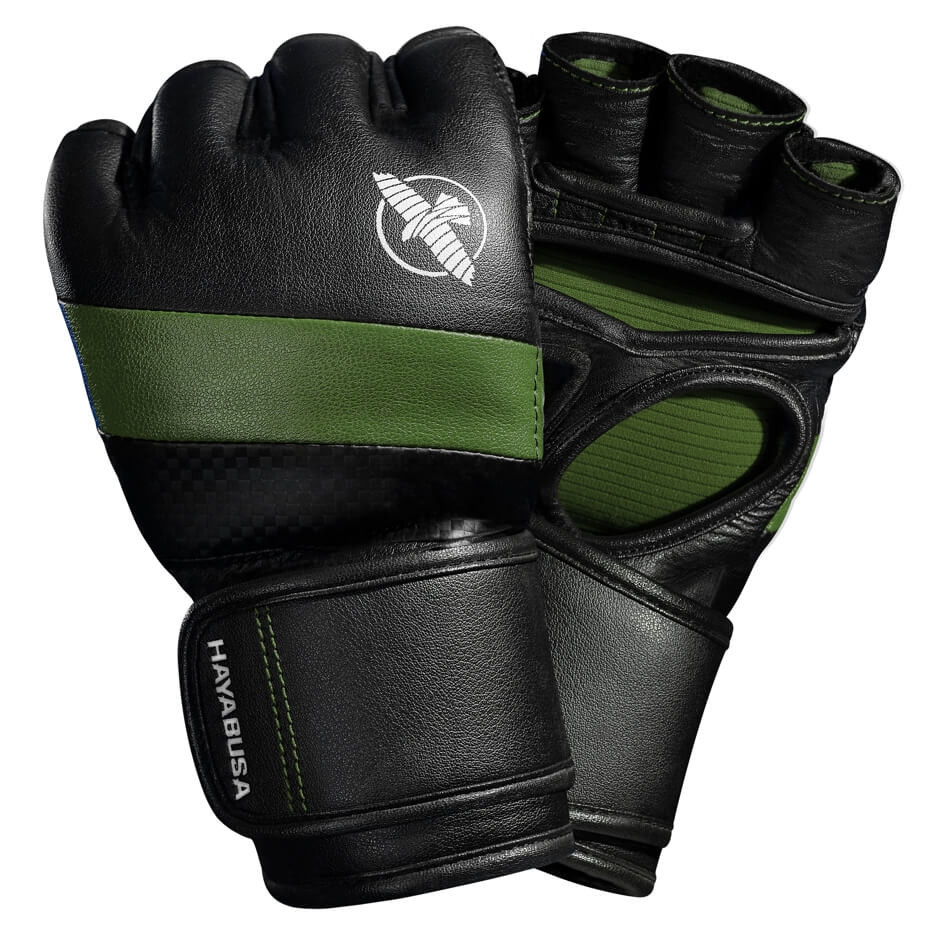 Hayabusa T3 MMA 4oz Gloves - Black / Green