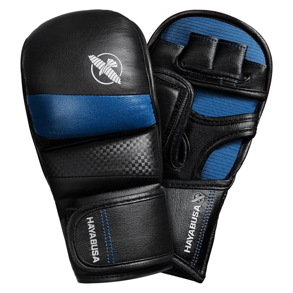 Hayabusa T3 7oz Hybrid Gloves - Black / Blue
