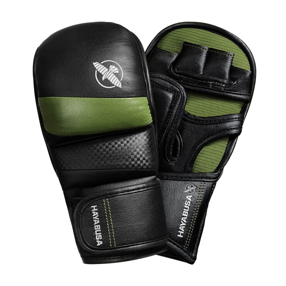 Hayabusa T3 7oz Hybrid Gloves - Black / Green