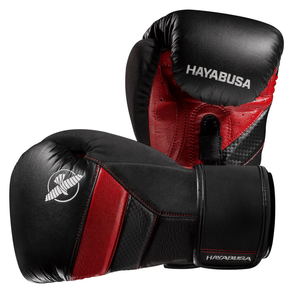 Hayabusa T3 Boxing Gloves - Black / Red **PRE ORDER FOR DELIVERY MID-APRIL**