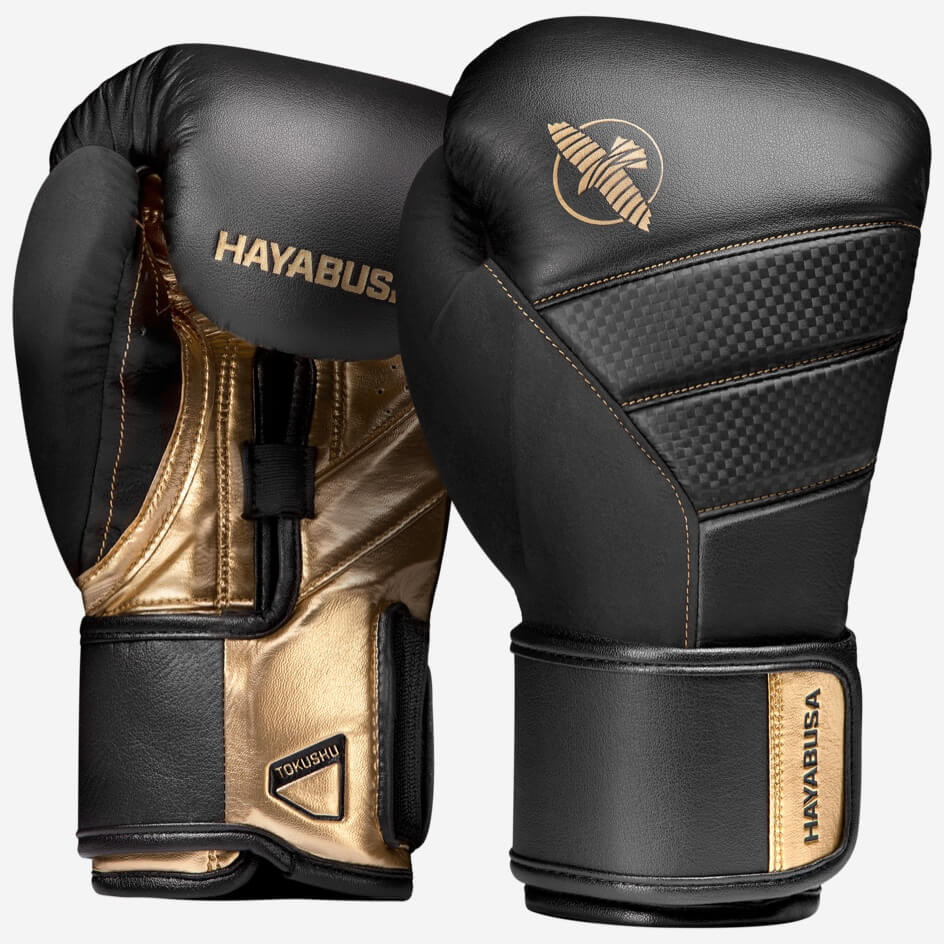 Hayabusa T3 Boxing Gloves - Black / Gold