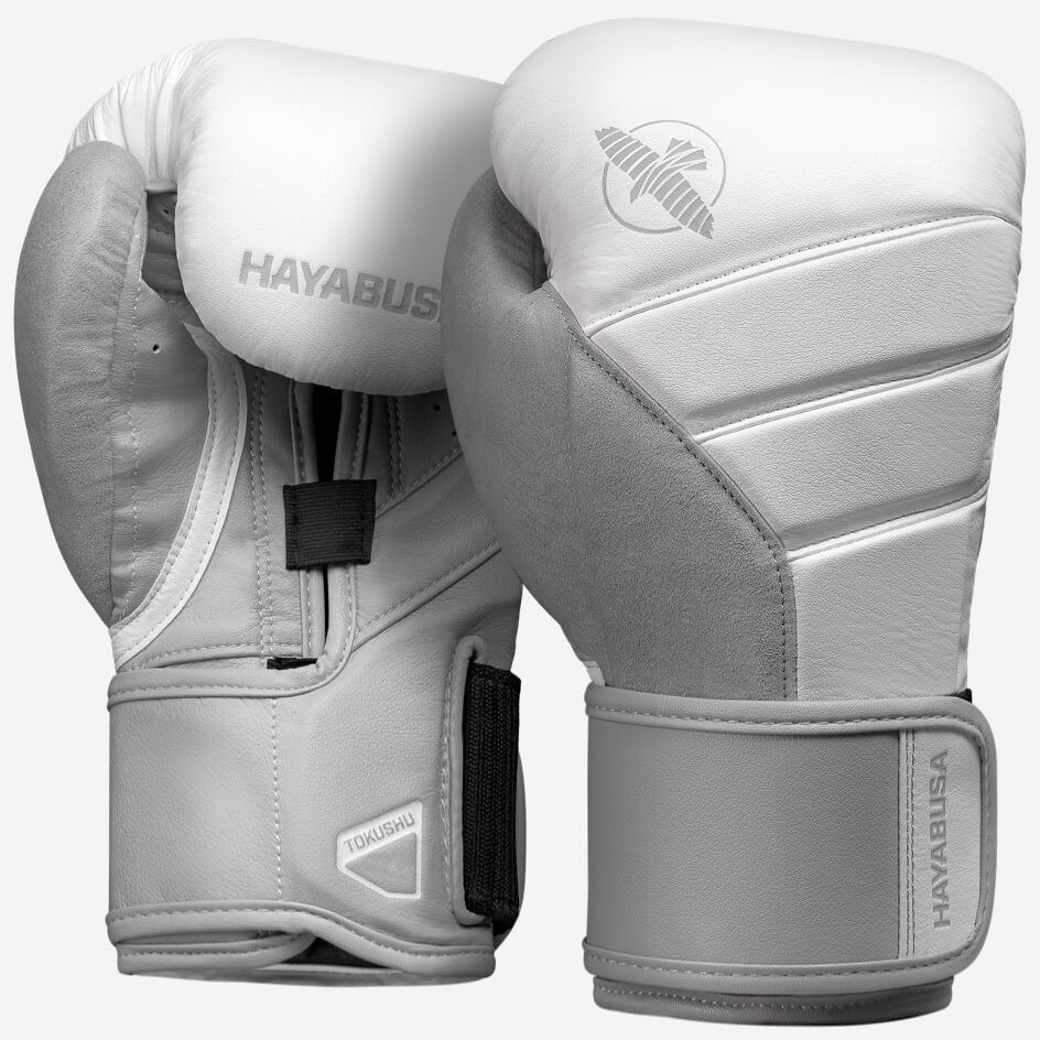 Hayabusa T3 Boxing Gloves - White / Grey