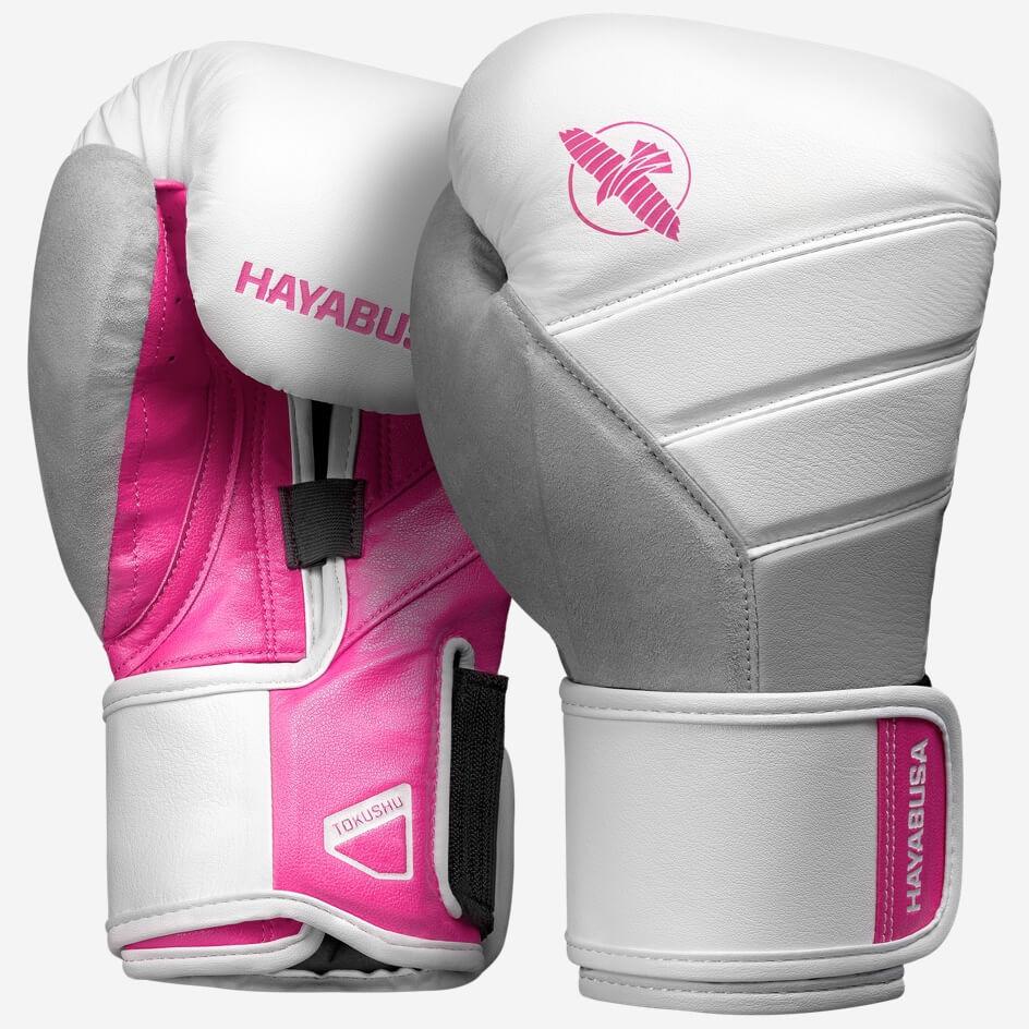 Hayabusa T3 Boxing Gloves - White / Pink