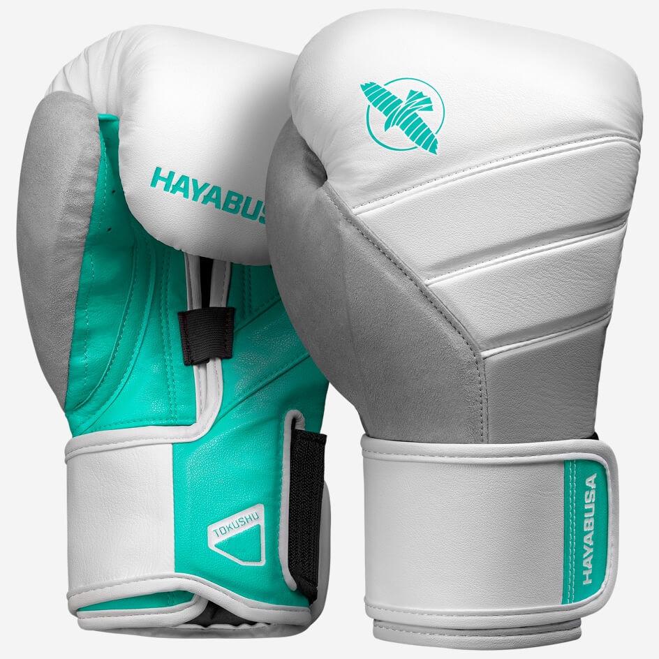 Hayabusa T3 Boxing Gloves - White / Teal