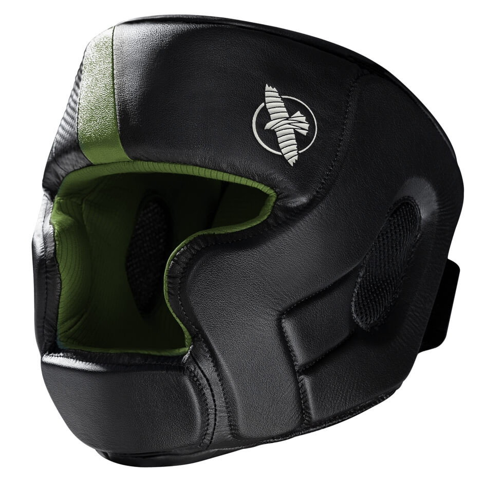 Hayabusa T3 Headguard - Black / Green