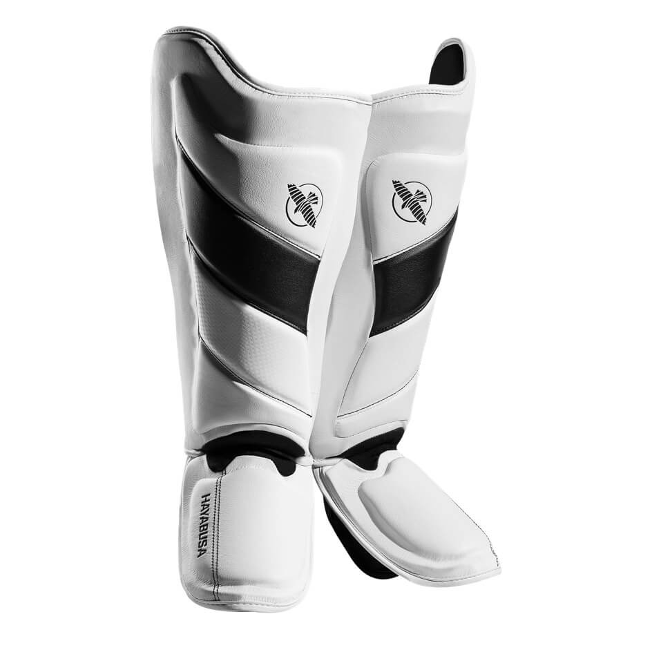 Hayabusa T3 Striking Shinguards - White / Black