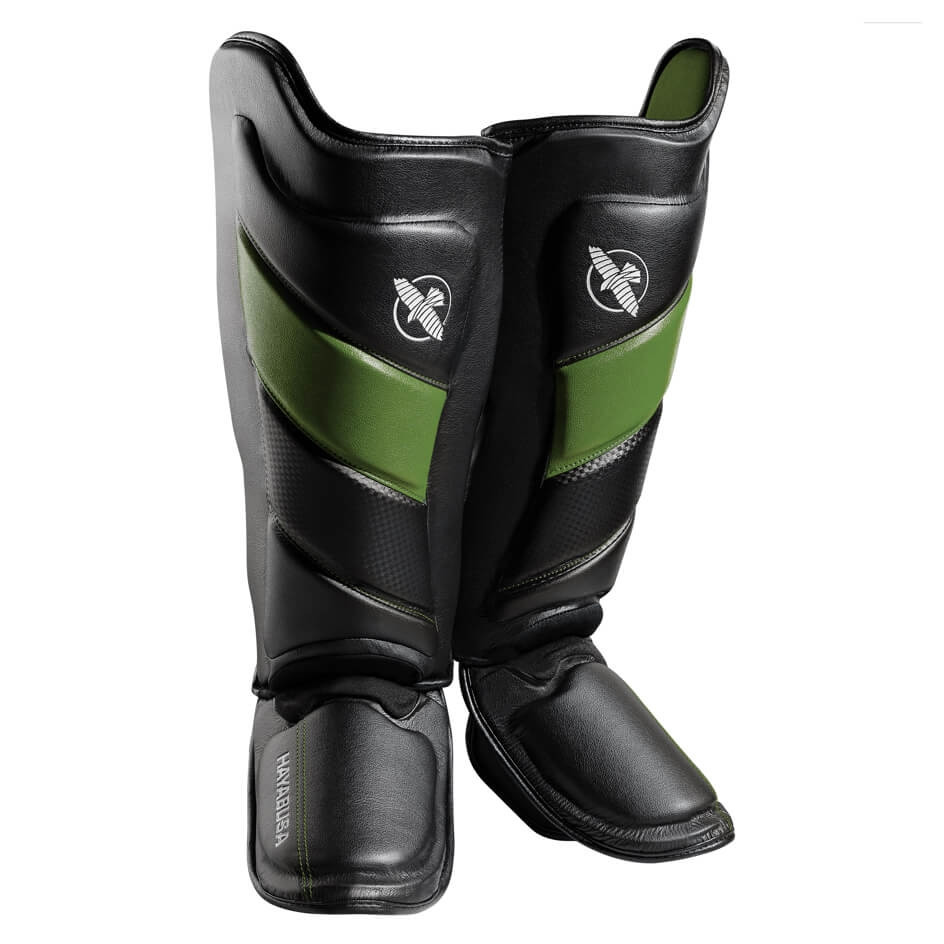 Hayabusa T3 Striking Shinguards - Black / Green