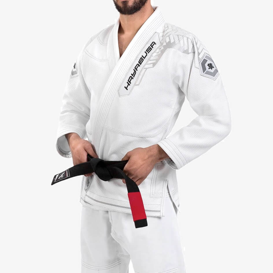 Hayabusa Gold Weave Warrior Jiu Jitsu Gi - White
