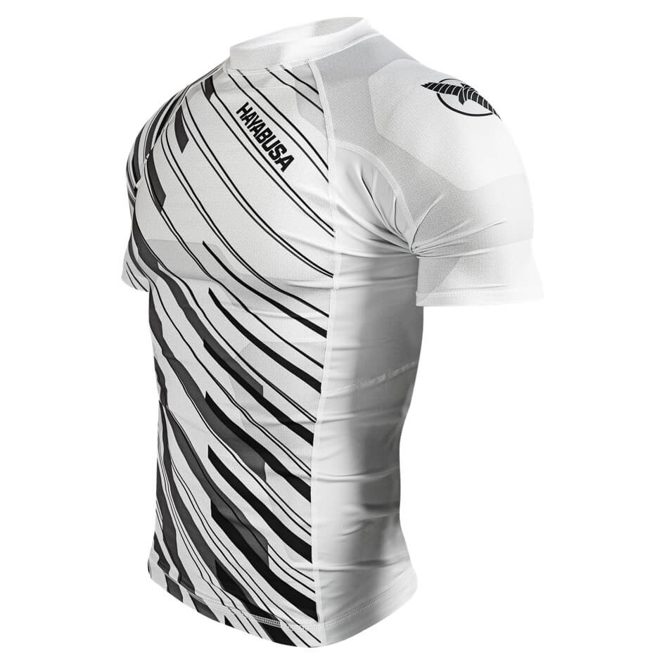 Hayabusa Metaru Charged Shortsleeve Rashguard - White